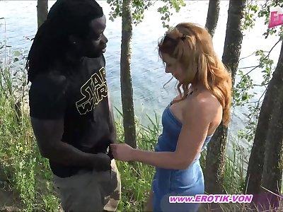 german black guy fucks young teen outdoor