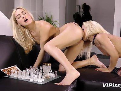 Lesbian video with piss drinking sluts Cub and Jessyca. HD
