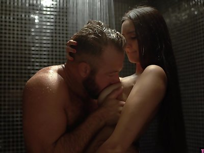 Interesting babe Eliza Ibarra seduces sister's husband in be transferred to shower