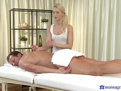 Masseuse ends up how the client's dick up their way fine holes